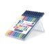 Fiberspetspenna TRIPLUS sorterade färger, 1,0mm, 10st