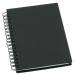 Muistikirja Grieg Design spiraali A6 viivoitettu, musta