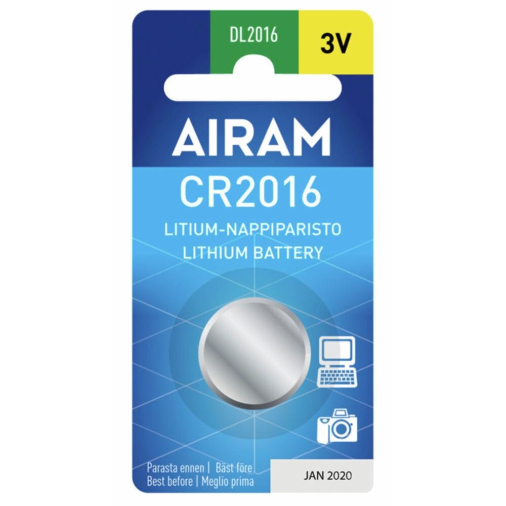 Bilde av Airam Airam Cr2016 3v Litium Knappebatteri 8714069 Tilsvarer: N/a