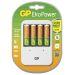 GP Batterilader inkl 4 stk 1300 mAh AA batterier.