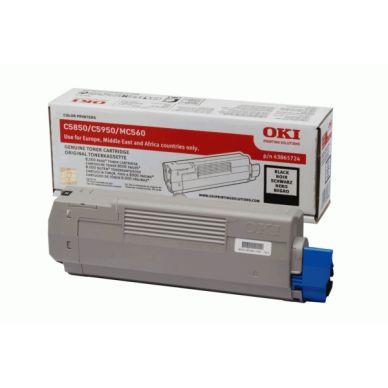 OKI C5850/5950/MC560 BK (43865724) Lasertoner, sort,  8000 print