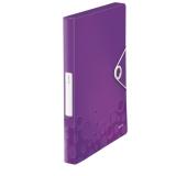 Laatikkokansio Leitz WOW PP violetti