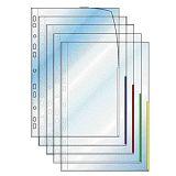Plastficka Signal A4 0,13mm vit, 100 st