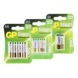 Batteri-paket GP (1 x 4 st AA-, 1 x 4 st AAA-, 1 x 1 st 9V)