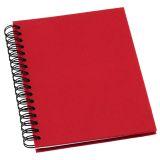 Anteckningsbok Grieg Design spiral A6 linjerat röd