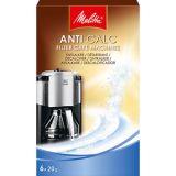 Melitta ANTI CALC Kaffebryggare, avkalkningsmedel 6x20g