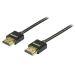DELTACO tynn HDMI-kabel, 2m, svart