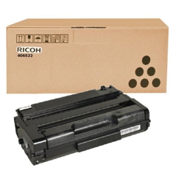 Pris på Ricoh Tonerkassett sort, 5.000 sider, høy kapasitet 406522 Tilsvarer: N/A
