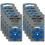 Rayovac Extra Advanced ACT 675 blå 10-pack