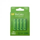 GP Recyko 1300mAh AA/HR6 4-pakning
