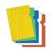 Plastmappe kraftig A4 0,18 gul (100)