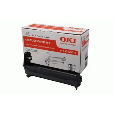 OKI C5850/5950/MC560 BK (43870024) tromle, sort,  20000 print