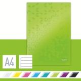 Notesbog Leitz WOW A4 Linj. 90g/80a grøn