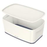 Förvaringslåda MyBox Small med lock vit/grå
