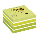Post-it Kub 76x76 mm grön/vit