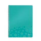 Notesblok WOW PP A4lin.80ark m/hul isblå