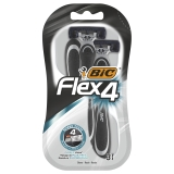 BIC Flex 4 Comfort Barberskraber, 3 stk.