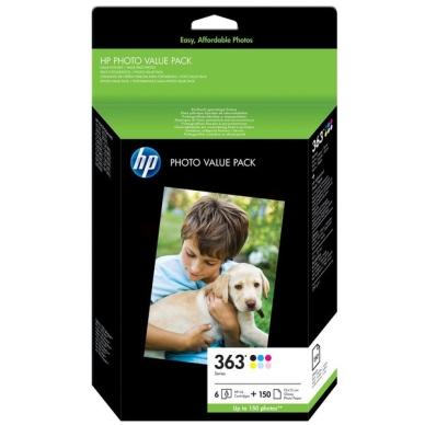 HP Fotovärdepaket: 6 Vivera bläckpatroner +150 fotopapper 10x15 Q7966EE Motsvarar: N/A