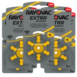 Rayovac Extra Advanced ACT 10 gul 5-pakk