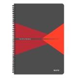 Notesblok Leitz Office PP A4linjeret rød