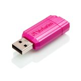Verbatim USB-minne 32GB, Pin Stripe, rosa
