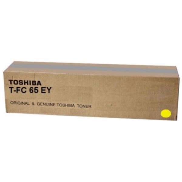 Pris på TOSHIBA Tonerkassett gul 29.500 sider T-FC65EY Tilsvarer: N/A