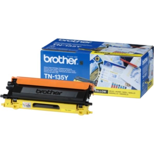 Pris på Brother Tonerkassett gul 4.000 sider høy kapasitet TN-135Y Tilsvarer: N/A