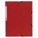 Gummistrikkmappe kartong 3-kl A4 rød, 10 st