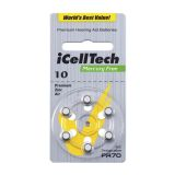 iCellTech PR70/ZA10/DA10/V10 Hörapparatsbatteri