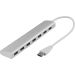 DELTACO USB 3.0-hub, 7xtype A (hunn)