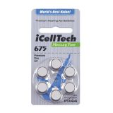 iCellTech PR44/ZA675/DA675/V675 Hörapparatsbatteri