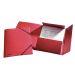 Strikkmappe m/3 klaffer Kartong A4 Rød