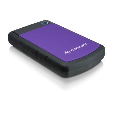 Transcend Transcend 2,5 extern hårddisk, 2TB USB 3.0, lila TS2TSJ25H3P Motsvarar: N/A