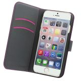 Muvit Wallet 3-compartment iPhone 6 Pink