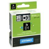 Tape Dymo D1 19 mm svart på klar