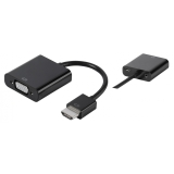 Vivanco Adapter HDMI hane - VGA hona 0.1m, svart