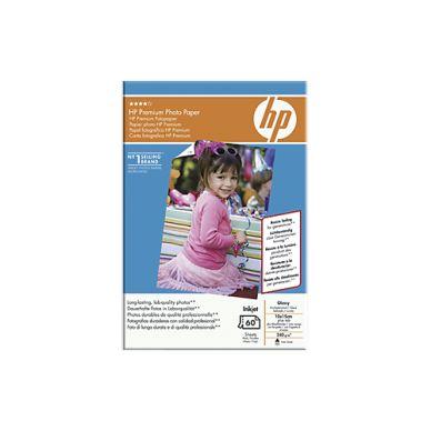 HP Fotopapir Glossy Premium 10x15 60 ark 240g, tear-off tab