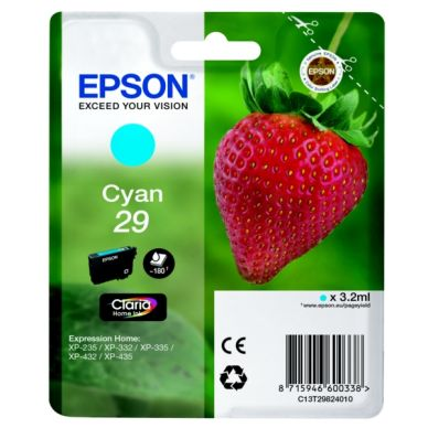 Epson Epson 29 Blækpatron cyan, 180 sider T2982 Modsvarer: N/A