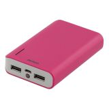 DELTACO Power bank, 6000mAh, ficklampa