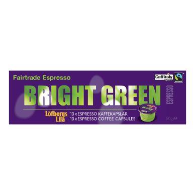 Löfbergs Lila Löfbergs Lila Bright Green Espresso kaffekapsler, 10 stk.
