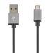 DELTACO USB synk./latauskaap. 1m, USB Tyyppi A - USB micro-B