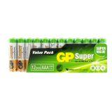 Batteri 1,5 V AAA, Alkaliska (12-pack)