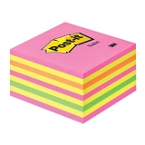 Post-it Kube 76 x 76 mm rosa/gul
