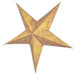 Étoile de sapin, cordon inclus, beige