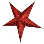 Étoile de sapin, cordon inclus, rouge