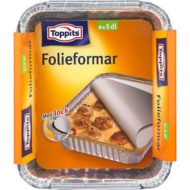 Toppits Toppits Foliovuoka 5 dl, 8 kpl