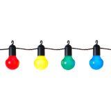 Party lyskæde LED 20 kulørte pærer