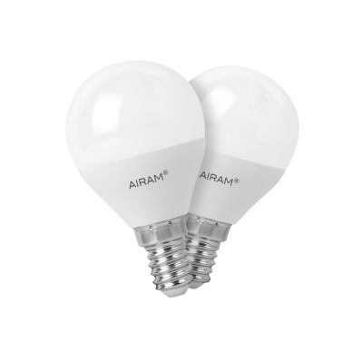 Bild AIRAM Airam LED lampe in ballform E14, 3,5W, 2-pack
