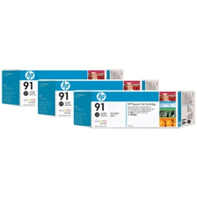 HP No91 photo musta ink, 775ml (3)