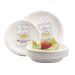 Lautanen pahvi säästöpakk. syvä 20 cm valkoinen (50)